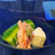 蟹とカマンベールチーズの酢の物