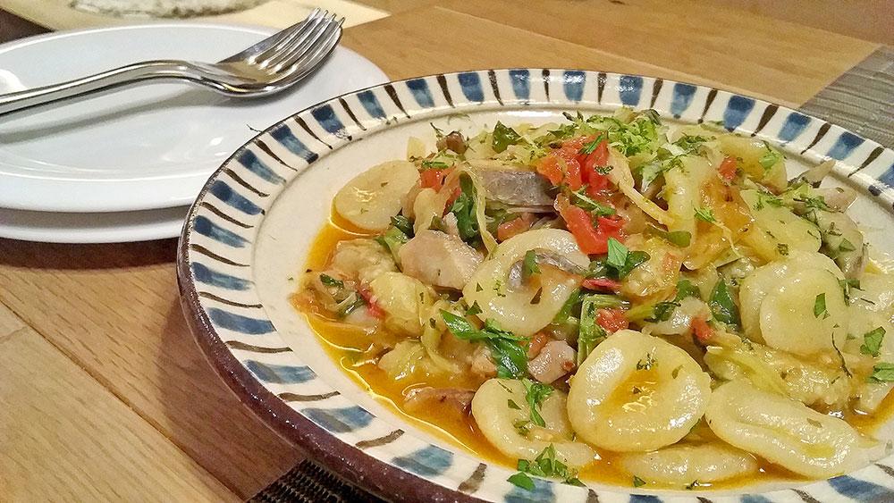 秋刀魚とフレッシュトマトのオレキエッテイ