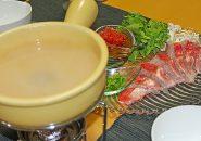 トロける金目鯛のしゃぶしゃぶ オレンジの香りのケッカソース