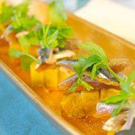 オレンジ香る秋刀魚 水ナスのコンフィと