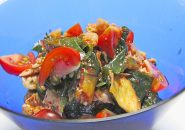 冷製 豚キムチの海藻サラダ和え